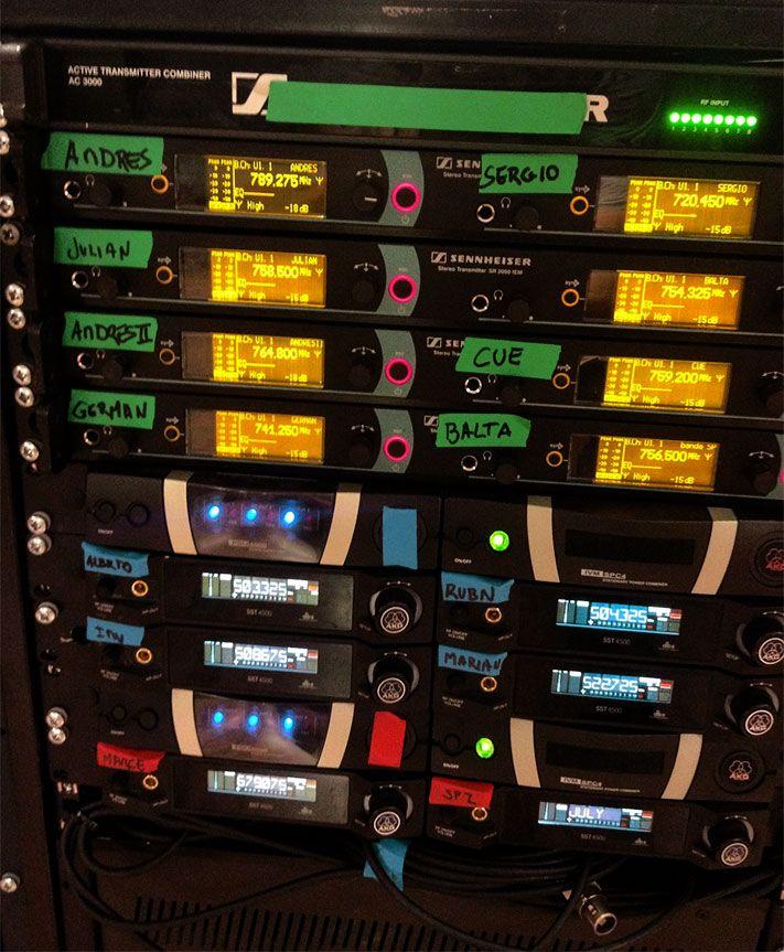 Equipos de radiofrecuencia para sonido directo