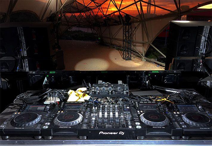 Escenario para DJs