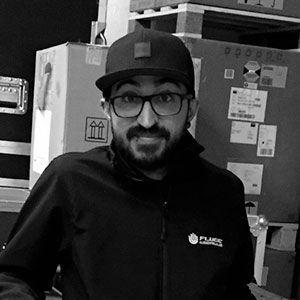 Omar Mohamed, técnico de vídeo